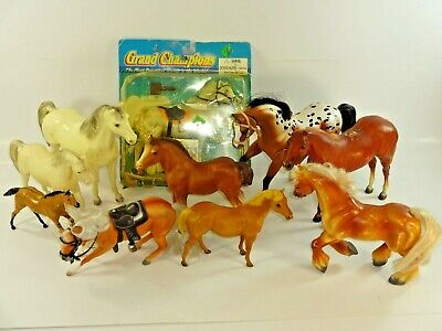 Mixed Lot of 10 Horse Figures Empire Inc. Grand Champions, Breyer & Others