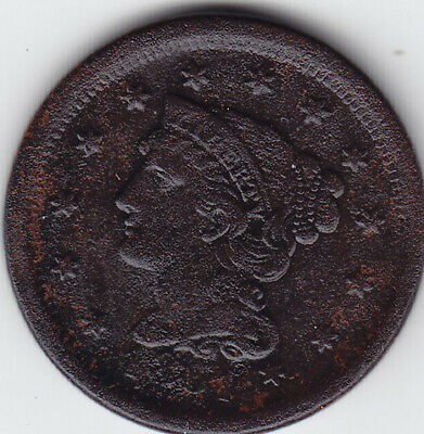 1851 United States (USA) Large One Cent Coin