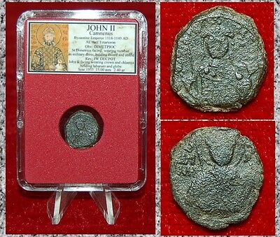 Ancient Byzantine Empire Coin JOHN II St.Demetrius On Obverse Emperor On Reverse