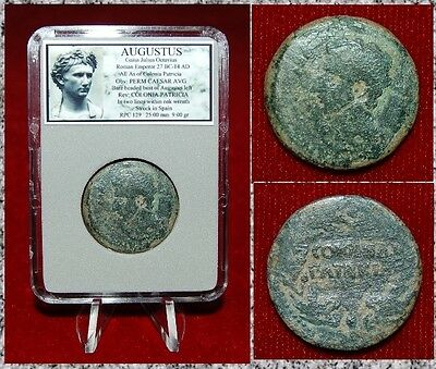 Ancient Roman Empire Coin AUGUSTUS  Bust of Augustus on Obverse
