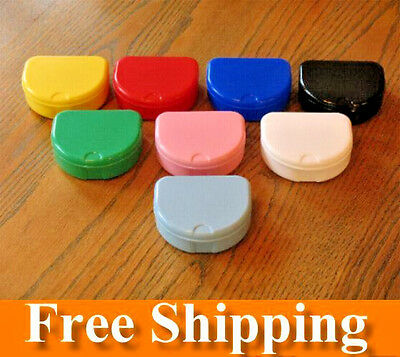 104 Mixed Colors Denture Retainer Box Orthodontic Dental Case Mouth Ortho Brace