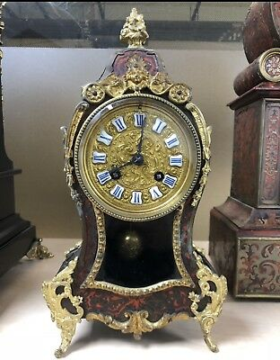 Antique 19th century Original French boulle Bronze clock with original receipt