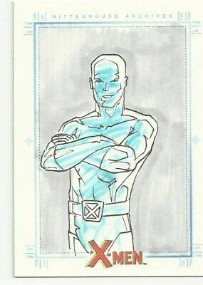 2008 Rittenhouse X-Men Archives Sketch Card Iceman By unknown 1/1