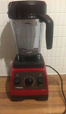 Red Pro 300 Vitamix with tamper and dry jug