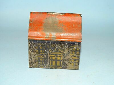 Early American Still Bank Hand Stenciled Painted TIN ... George Brown ?