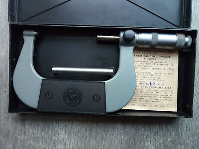 USSR 75-100mm micrometer in case