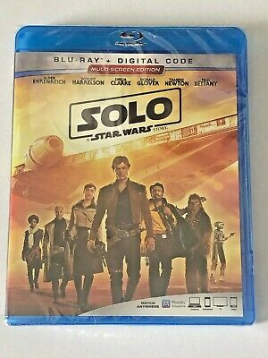 Solo: A Star Wars Story - Blu Ray + Digital Code - Brand New - Free Shipping