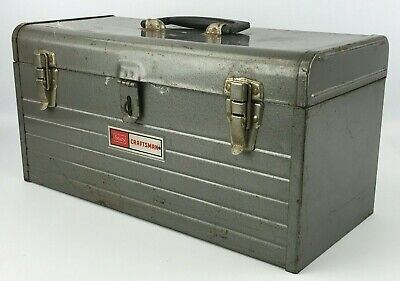 Vintage Sears Craftsman Metal Tool Box With Tool Shuttle Caddy Tray Insert - #2