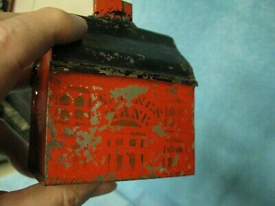 American tin Still Bank hand painted Stencil Original paint ... George Brown ?