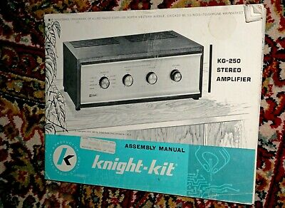 Original Manual for Knight-Kit KG-230 Vacuum Tube Stereo Integrated Amplifier