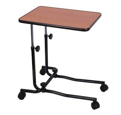 Height Adjustable Overbed Table with Four Wheeled Castors