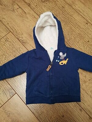 Baby Boy John Lewis 6-9 Month Fully Lined Fluffy Jacket