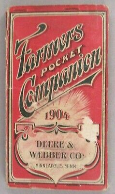John Deere & Webber Farmers Pocket Companion & CATALOG - 1904