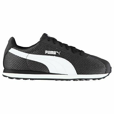 37c3f032f2efd2 Puma Turin Mesh Trainers Mens Black White Athletic Sneakers Shoes