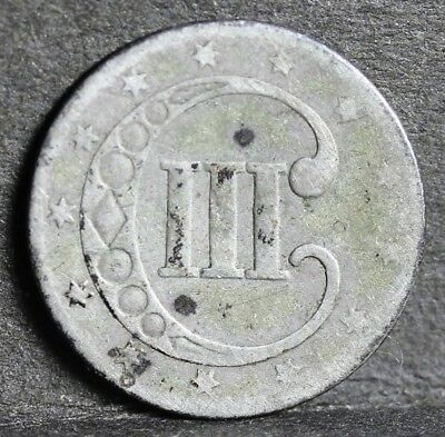 USA, 0.900 Silver 3 Cents, Trime, 1851, Low Grade