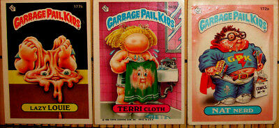 4-Garbage Pail Kids Trading Cards: 2-2 Sided/2-1 Sided All Topps C. 1986/unique!
