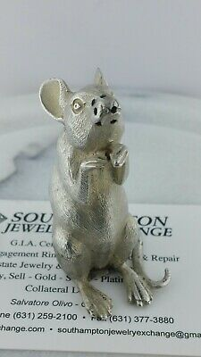 Tiffany & Co. Sterling Silver England Mouse Salt Shaker 58.6Grms Free Shipping
