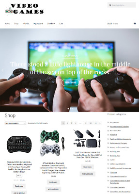 Video Games Website Business For Sale Unlimited Stock ON SALE