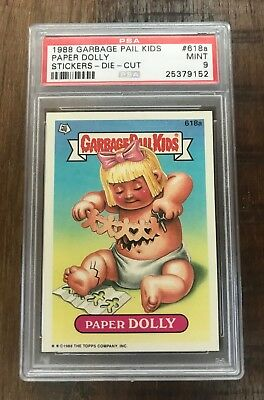 "Psa 9 Garbage Pail Kids Os15 Paper Dolly #618A Die Cut Pop ""2"""