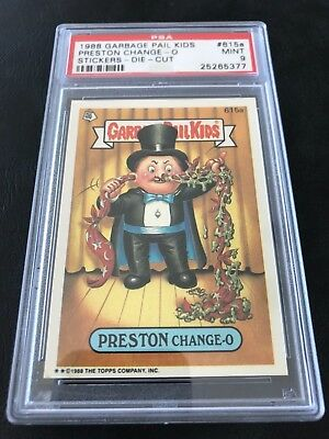 "Garbage Pail Kids Series 15 Preston Change-O Psa 9 Pop ""1"" Die Cut"