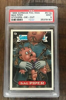 Psa 9 Garbage Pail Kids Os15 Bag Piper #613A Die Cut Pop 2