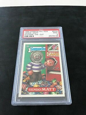 "Garbage Pail Kids Series 15 Vendo-Matt #600A Psa 9 Pop ""1"" Die Cut"