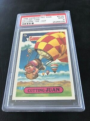"Garbage Pail Kids Series 15 Cutting Juan #614B Psa 9 Pop ""2"" Die Cut"