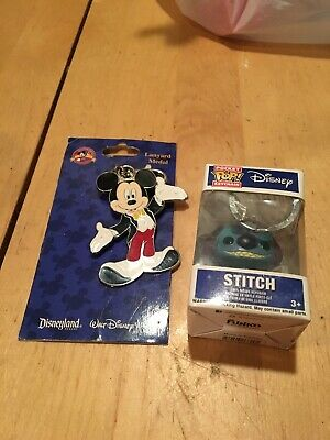 Funko Pocket Pop Keychain: Disney - Stitch Figure Keychain Item #6829 & Mickey