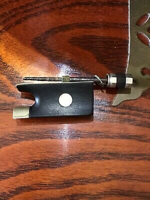Vintage 4/4 Violin Bow Frog Ebony Abalone Shell Inlay And Screw Tip Violin Parts