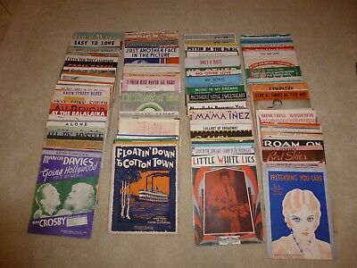 20 lbs. Vintage Sheet Music  - around 350 pieces - (plus 1977 Star Wars)