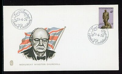Luxembourg Scott #548 FIRST DAY COVER Sir Winston Churchill Monument $$