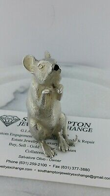 Tiffany & Co. Sterling Silver England Mouse Pepper Shaker 57.7Grms Free Shipping