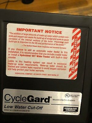 Cycle Gard Safgard Model 450 Low water cut-off with probe Used