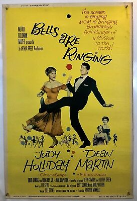 BELLS ARE RINGING Movie Poster (Fine) 40x60 1960 Judy Holiday Dean Martin 009