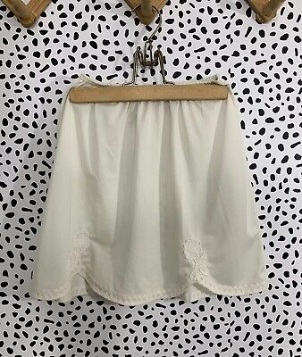 Vintage Slip Girls Kids Skirt Embroidery Deena Small 6
