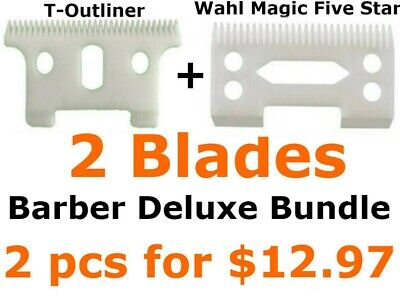Barber Deluxe Bundle T-outliner Replacement Ceramic Blade Wahl Replacement Blade