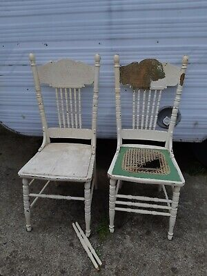 Antique Spindle back Chairs x 2