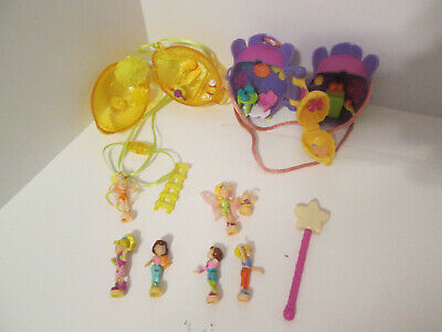 Vintage Polly Pocket Necklace Lemon Flower Honey Bee Hive Locket Magnetic Wand