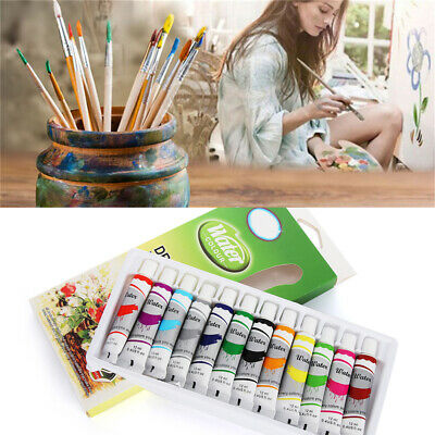 Gift Artist Watercolor paints Set Acrylic Draw Pigment with Brush Oil Painting