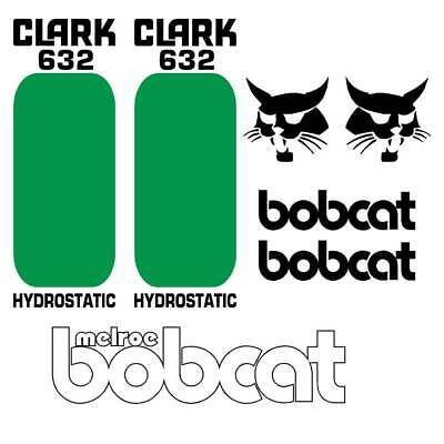 Bobcat 632 Decals Repro Aftermarket Decal Sticker kit