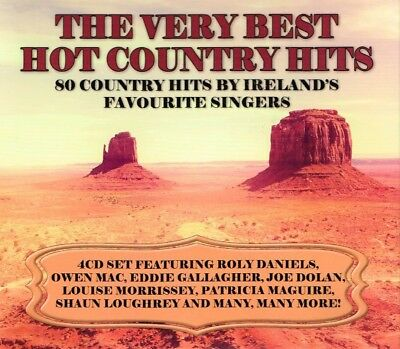 THE VERY BEST HOT COUNTRY HITS 80 Country Hits Brand New 4 CD's Irish Country