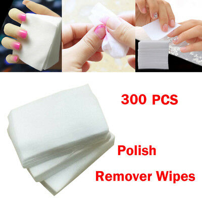 300pcs Lint Free Nail Art Gel Polish Remover Cotton Pad Nail Wipe B