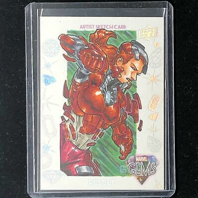 2016 Marvel Gems RESCUE Peejay Catacutan GS-14 Gem Sketch Card 1/1