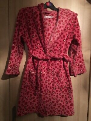 Girls Freespirit Animal Print Robe/Dressing Gown  Age 7-8