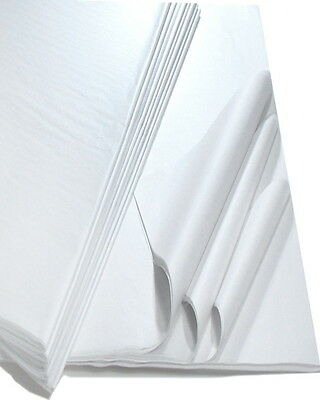 """50 WHITE Tissue Paper Sheets 'ACID FREE' Size - 500x750mm 20x30"""""""