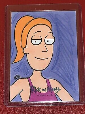 "Rick & Morty Series 1 2018 Cryptozoic Sketch Card ""SUMMER"" by Howie Noel 1/1"