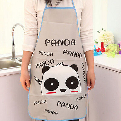 Unisex Lovely Waterproof Cartoon Kitchen Restaurant Cooking Bib Oleophobic Apron