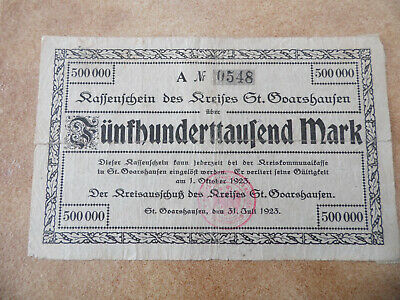 St. Goarshausen 500,000 Mark 1923