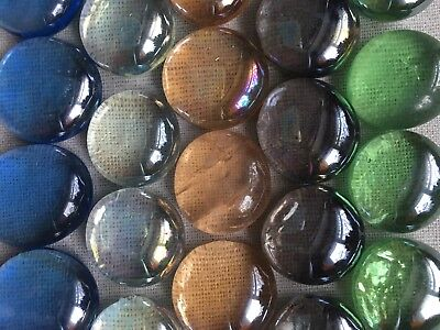 20 x Glass Nuggets Pebbles Stones For Decorative Purposes - *4 COLOUR CHOICES*