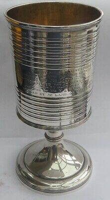 SUPERB GEORGIAN SCOTTISH SILVER GOBLET by GEORGE FENWICK  c.1813